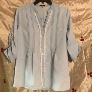 Hannah light blue soft denim Blouse